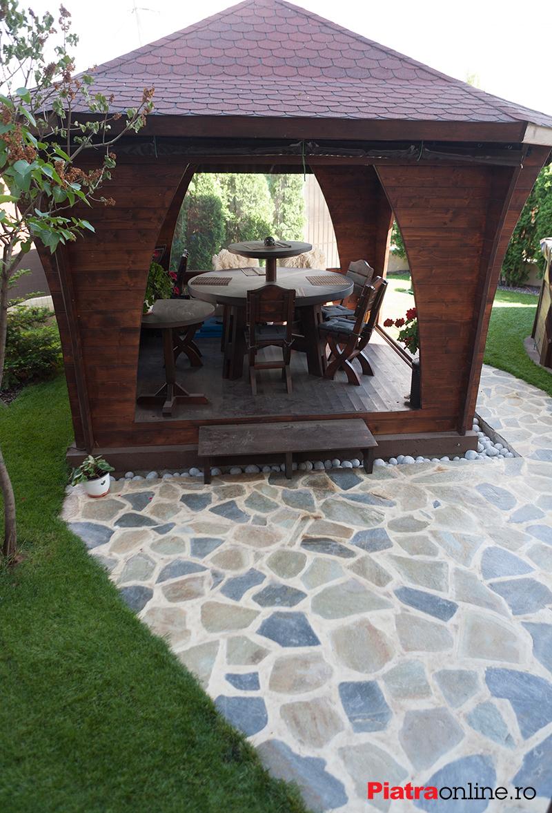 Cum poţi să-ţi înfrumuseţezi grădina cu piatră poligonală