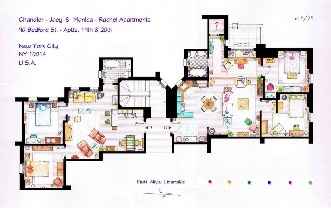 Cum arată apartamentele din serialele americane celebre