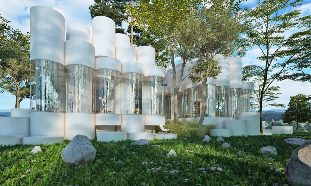 Spectaculos: Cum arată casa modulară din cilindre