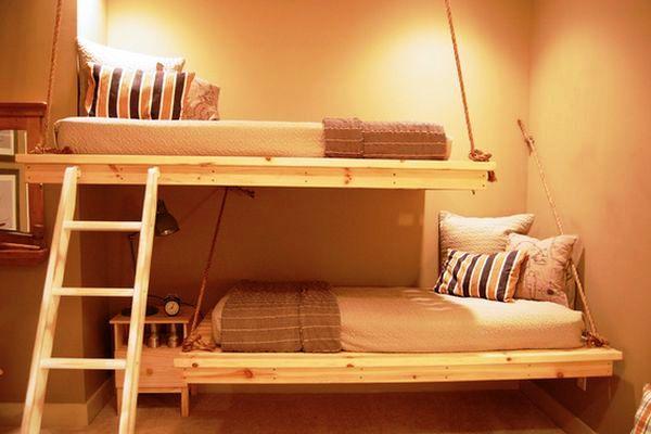 bunk-beds-hanging-for-teenage-room