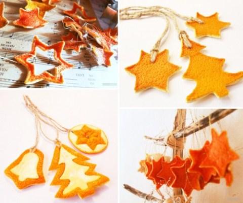 Ornamente din coji de portocale