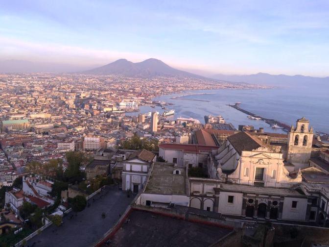 panorama Napoli din Sant`Elmo
