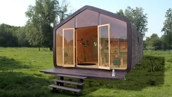 Casa din carton, rezistentă la vânt şi ploaie
