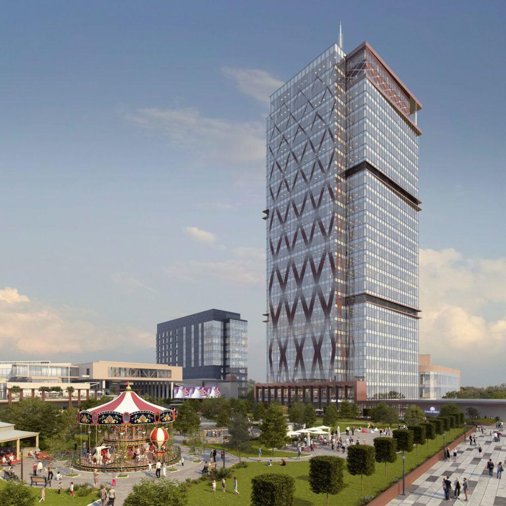 Se construiește cea mai înaltă clădire din România
