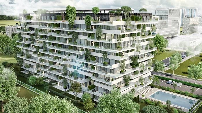 Premieră în România: proiect de locuinţe cu peste 1.000 de arbuşti